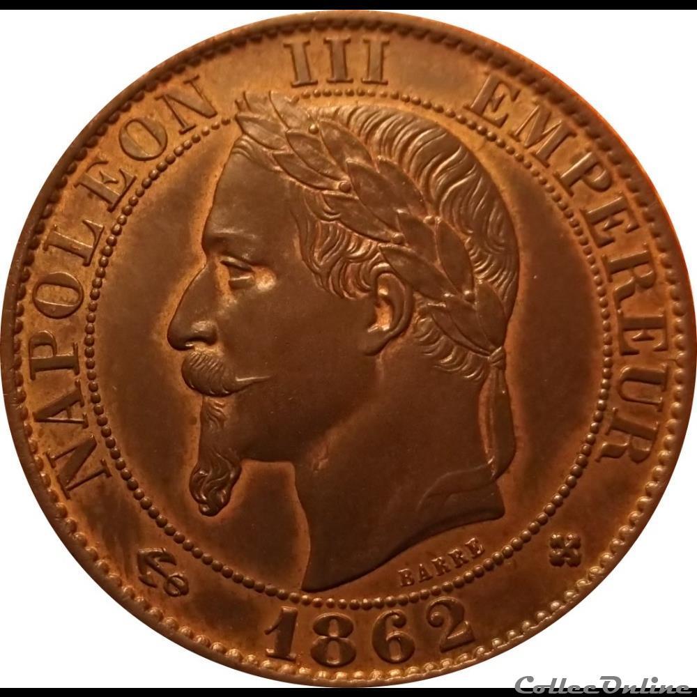monnaie france moderne 5 centimes 1862 bb