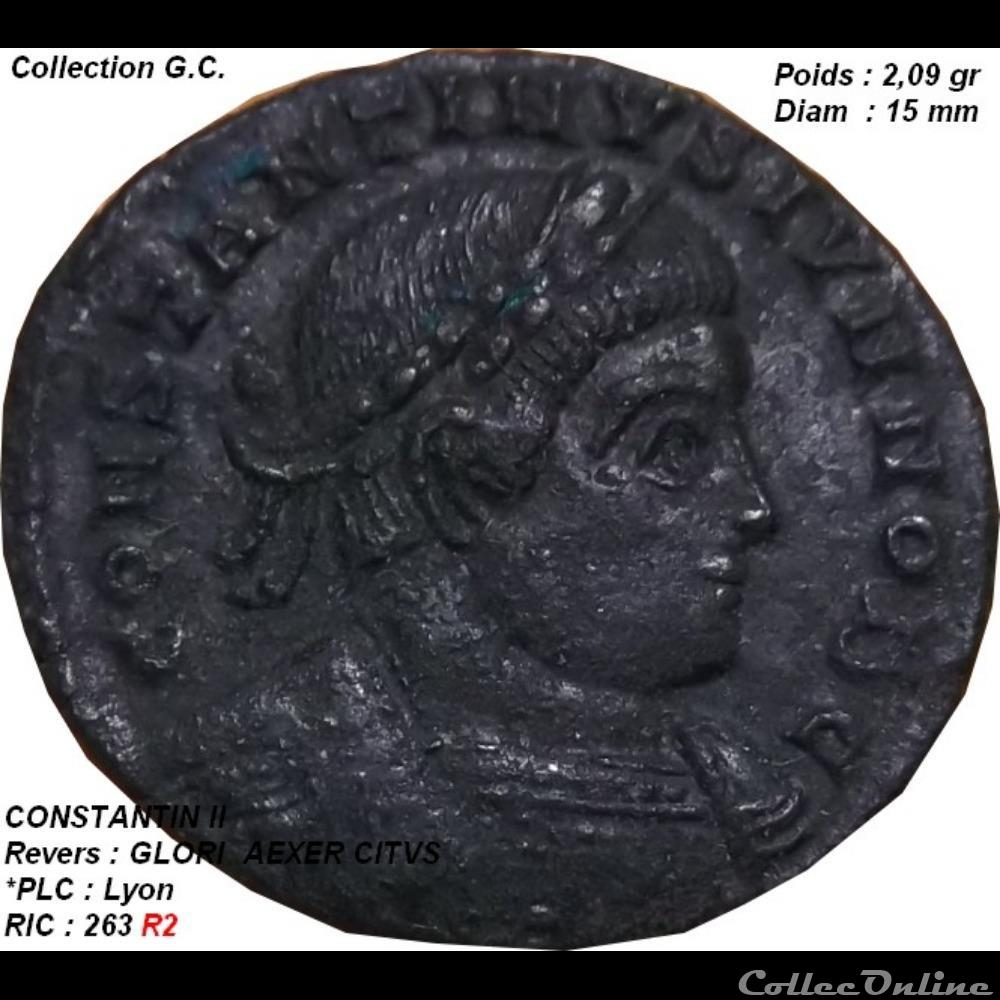 monnaie antique romaine constantin ii ric 263