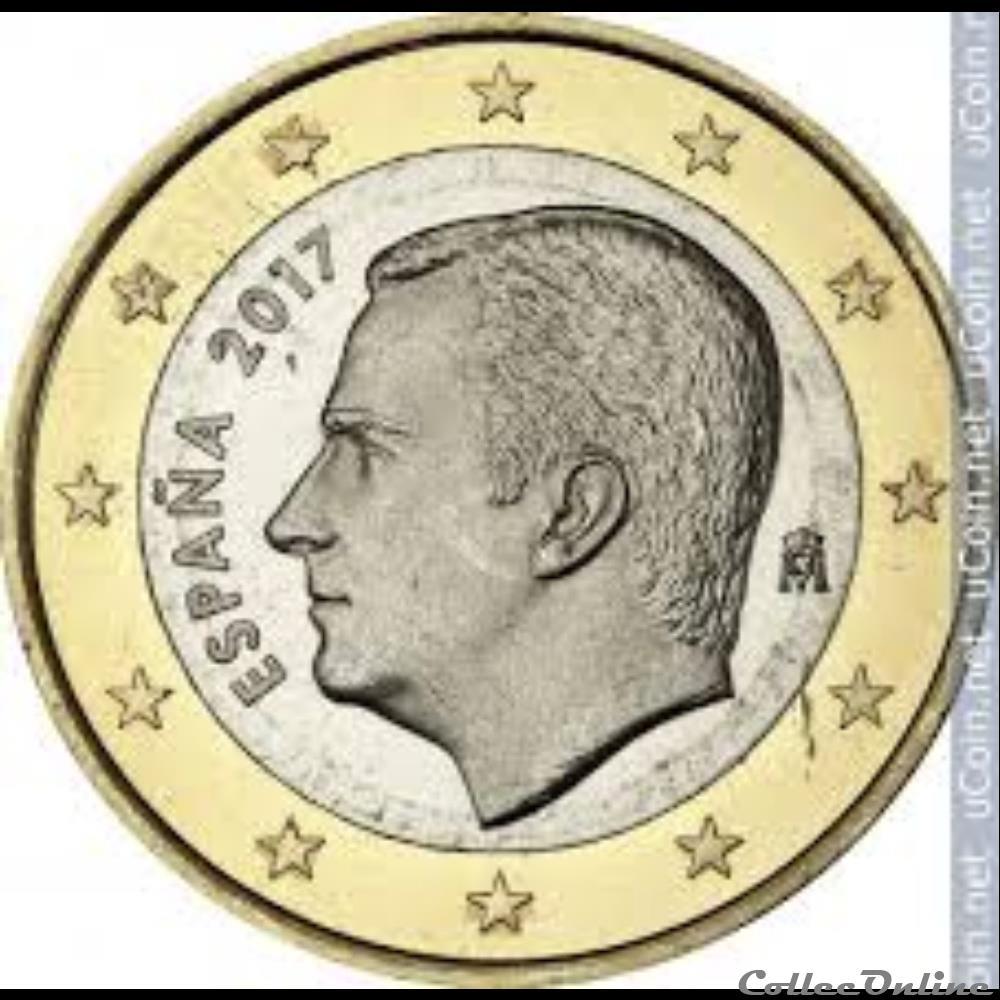 monnaie a espagne 2 euros 2017