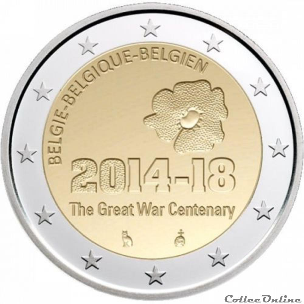 monnaie euro belgique 1ere guerre mondiale 2014