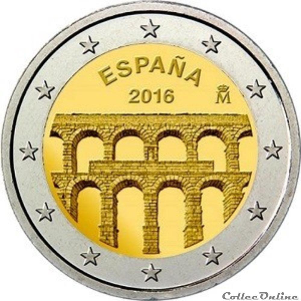 monnaie euro espagne aqueduc 2016