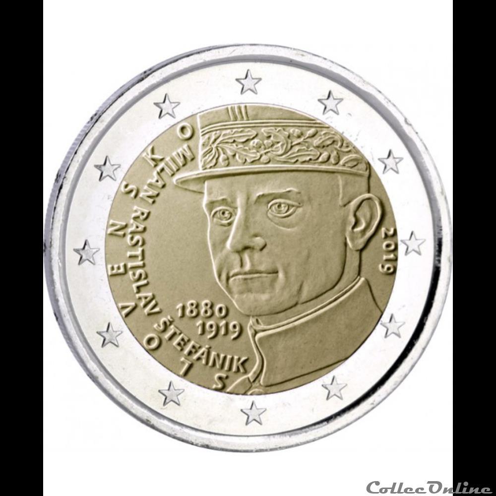 monnaie euro slovaquie milan rastislav stefanik 2019