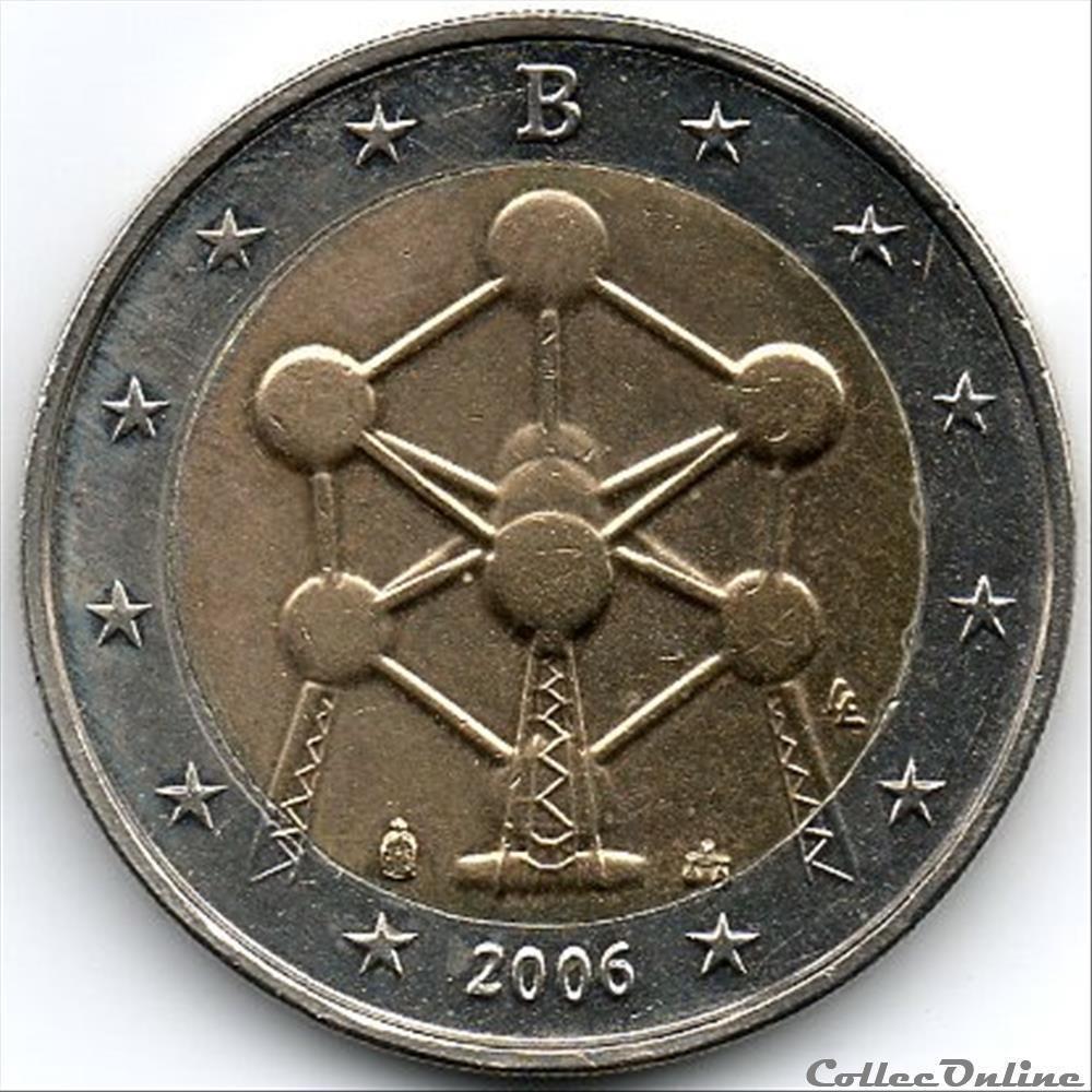 monnaie euro belgique atonium 2006