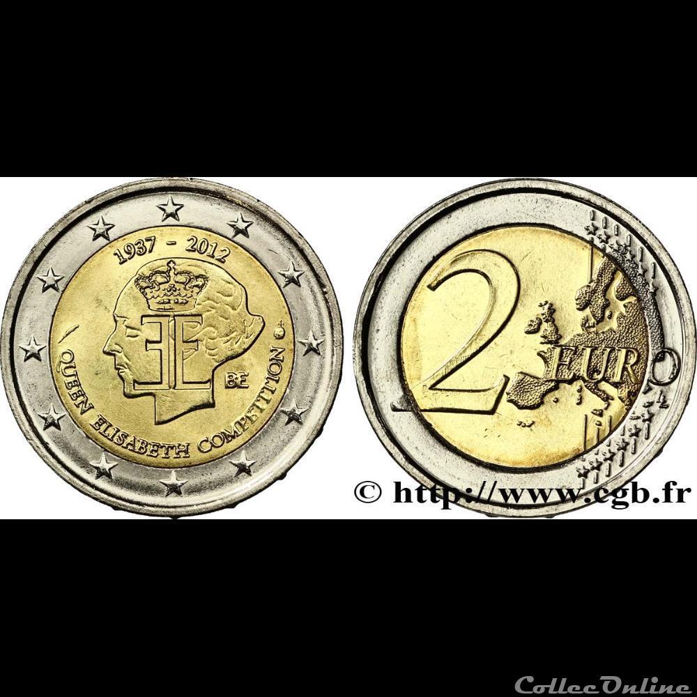 monnaie euro belgique queen elisabeth 2012