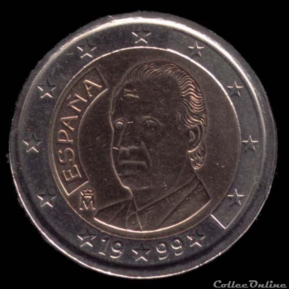 monnaie euro espagne juan carlos 1999