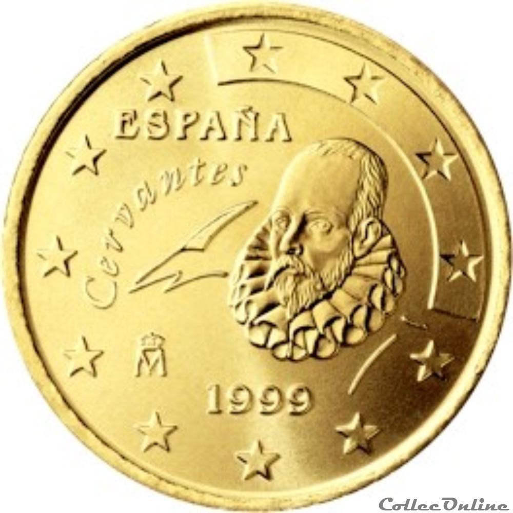 monnaie 50 cts espagne 2000