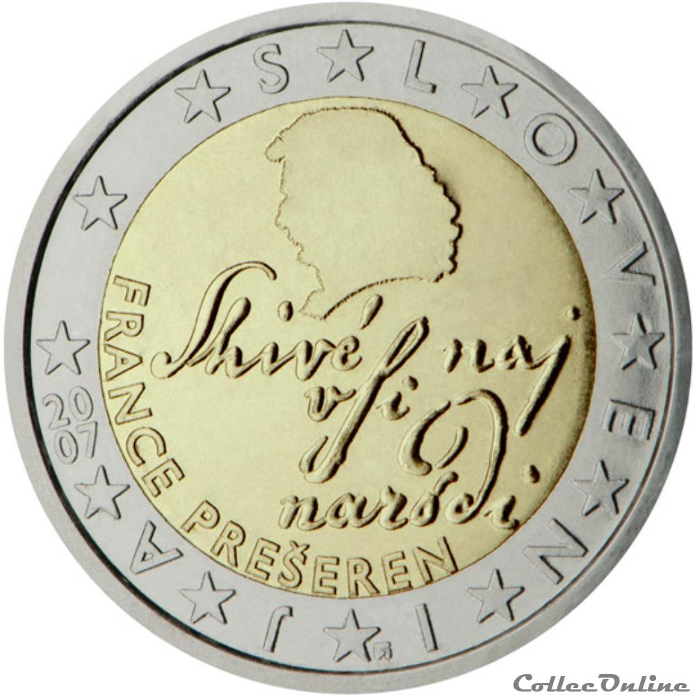 monnaie euro slovenie poete france preseren 2007