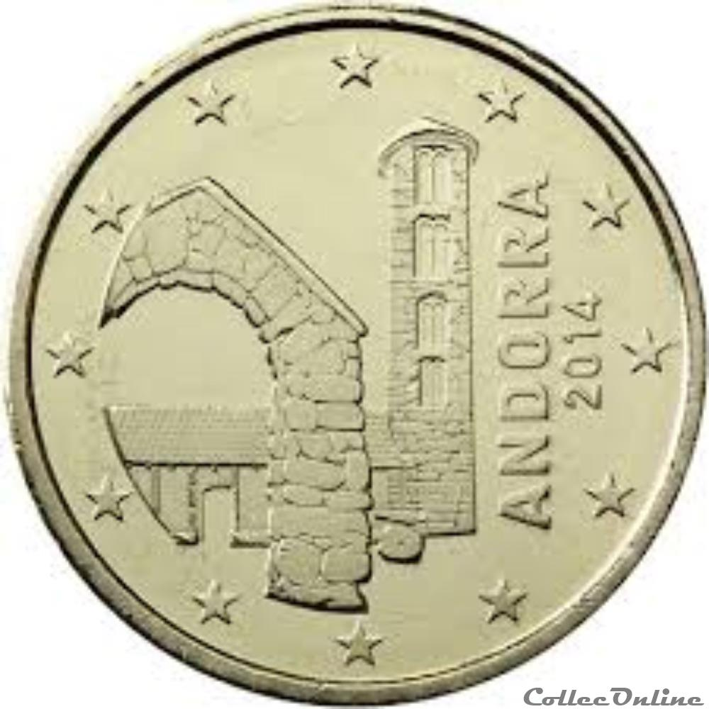 monnaie 50cts andorre 2017