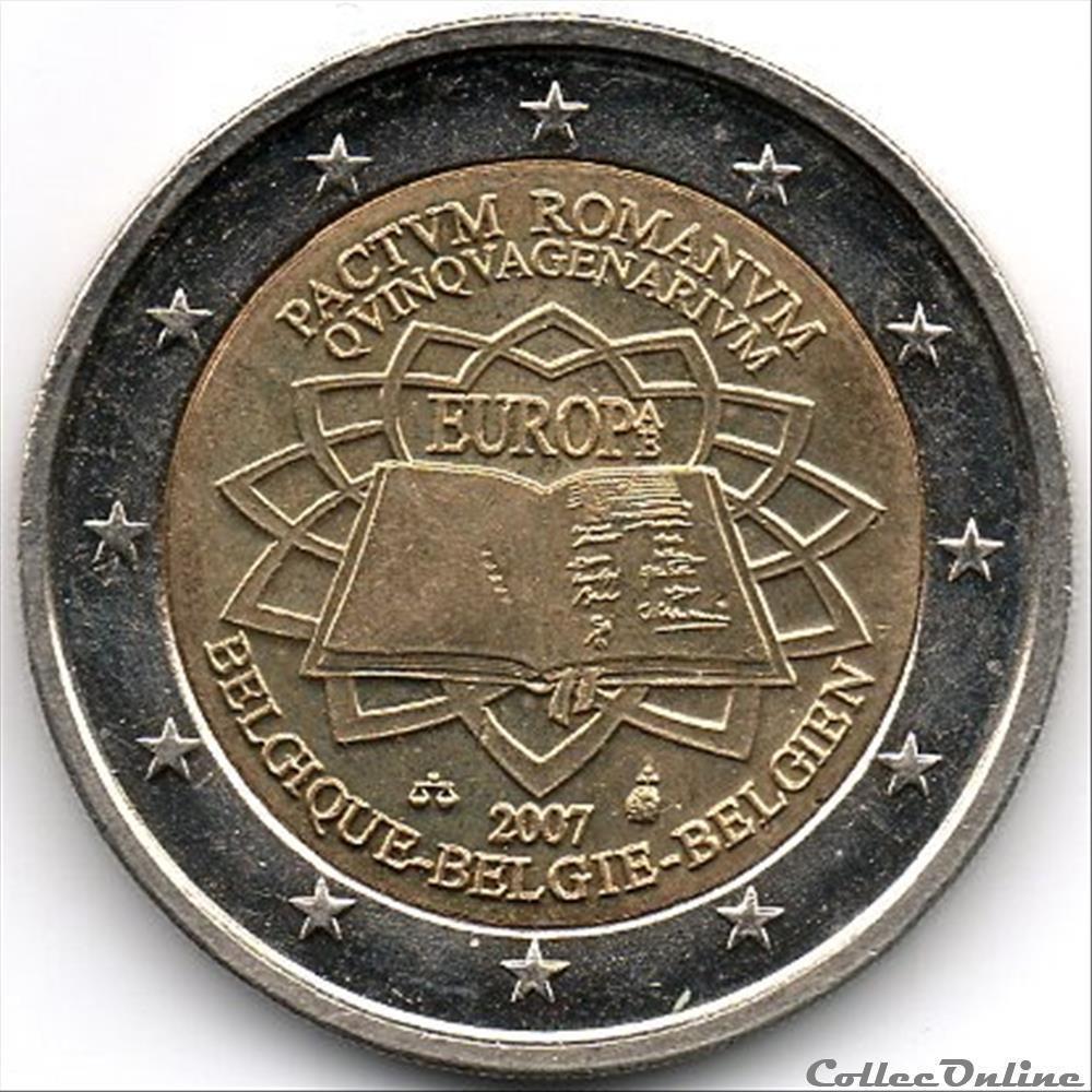 monnaie euro belgique traite de rome 2007