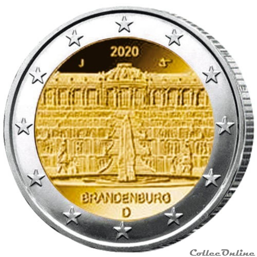 monnaie euro allemagne brandebourg palais de sanssouci 2020