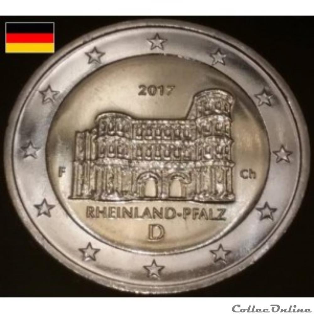 monnaie euro allemagne rheinland pfalz 2017