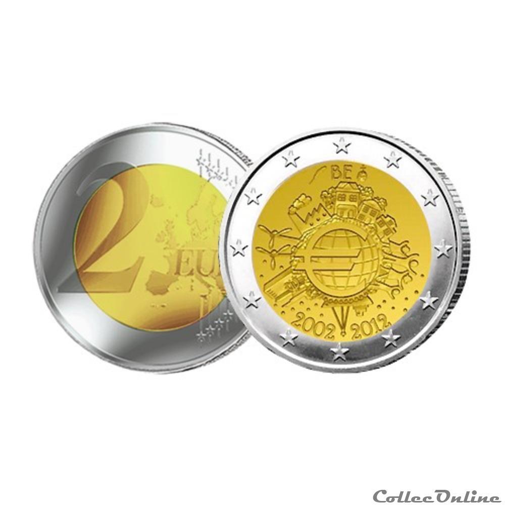 monnaie belgique 10 ans de euro 2012
