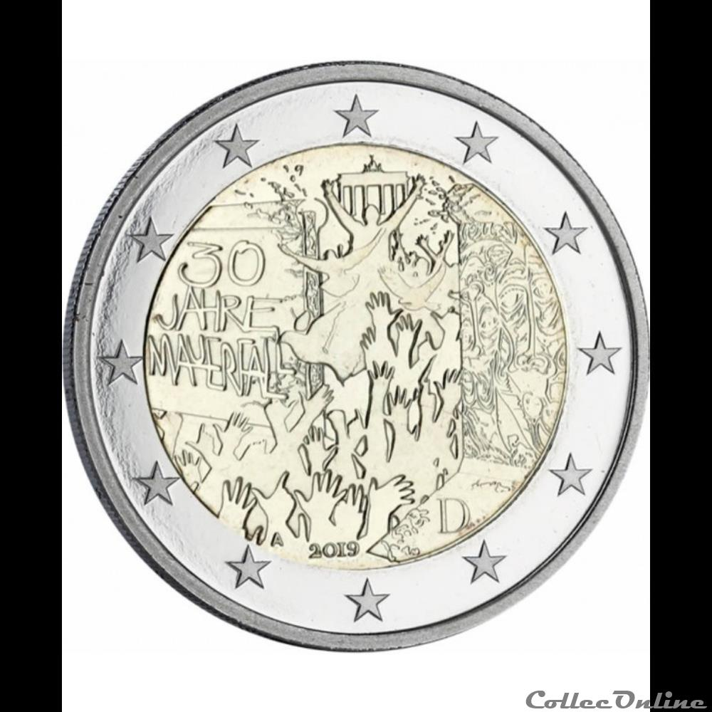 monnaie euro allemagne 30 ans chute du mur de berlin 2019