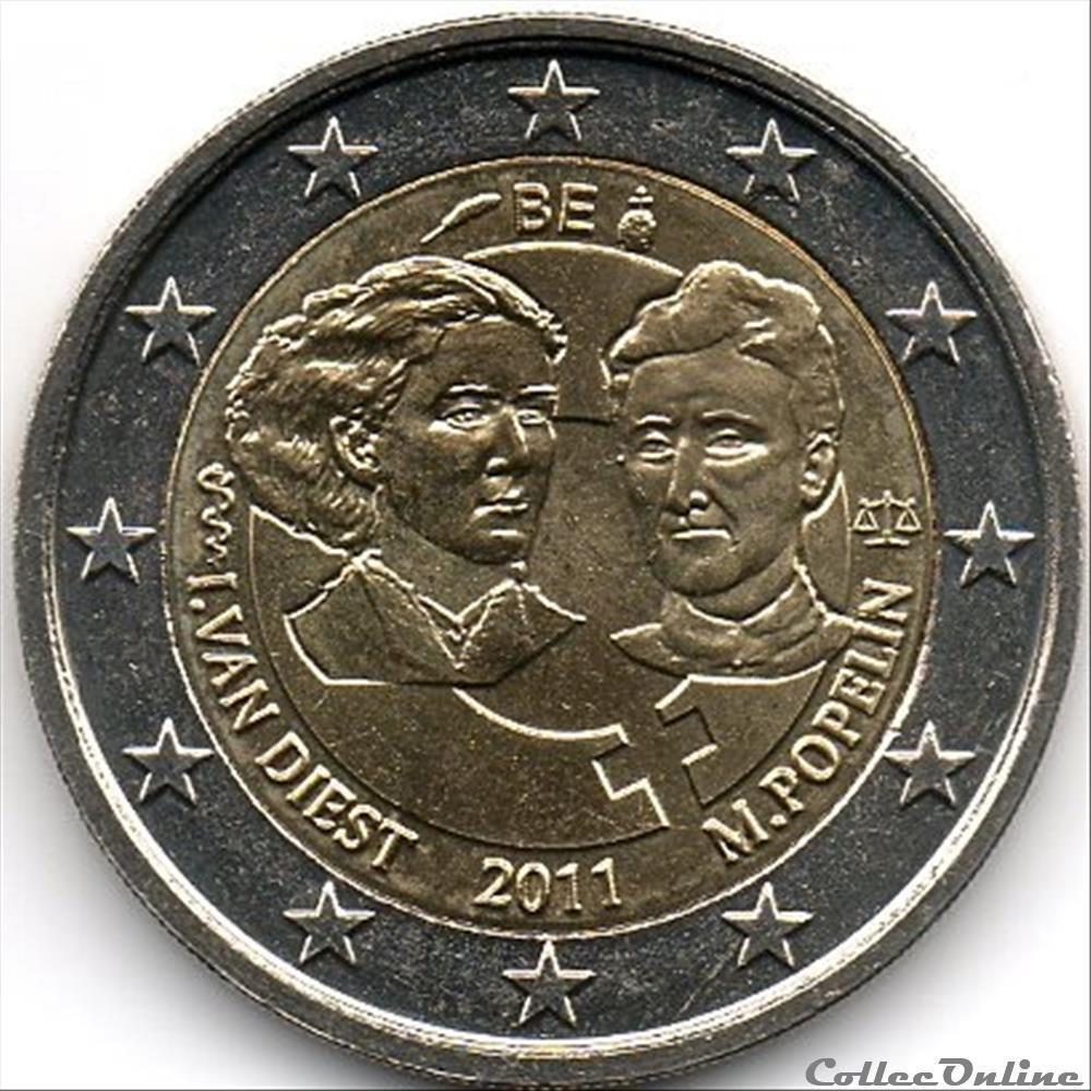 monnaie euro belgique 100e journee de la femme 2011