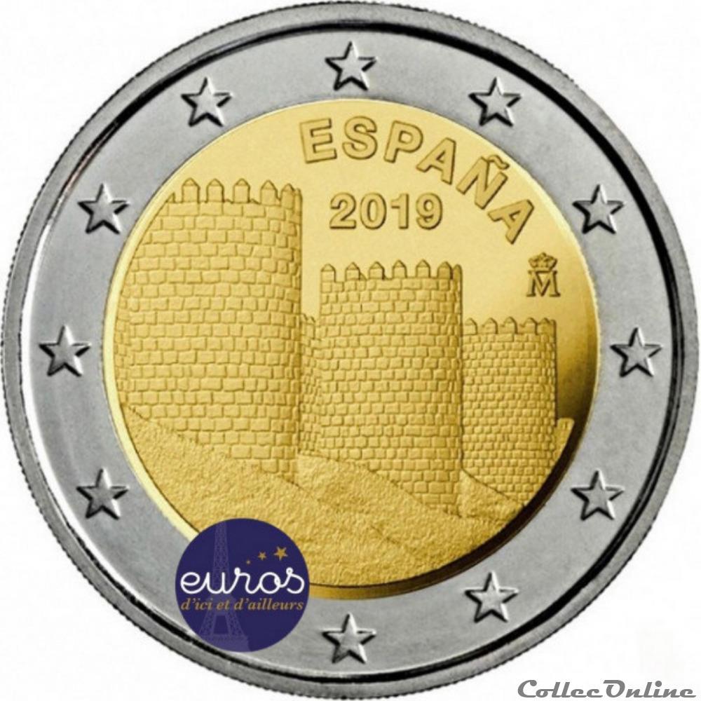 monnaie euro espagne remparts avila 2019