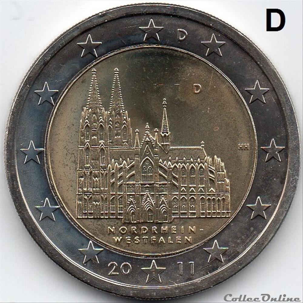 monnaie euro allemagne cathedrale cologne d