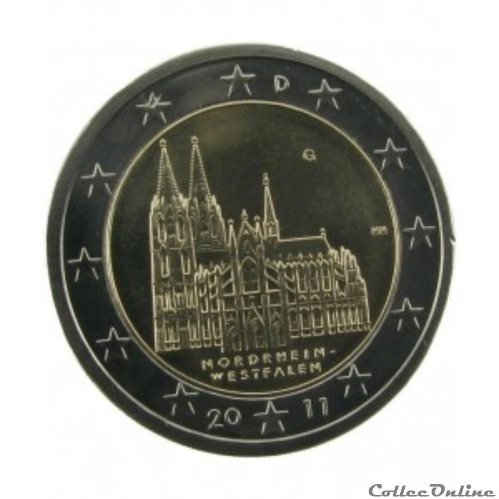 monnaie euro allemagne nord wesfafen 2011 g