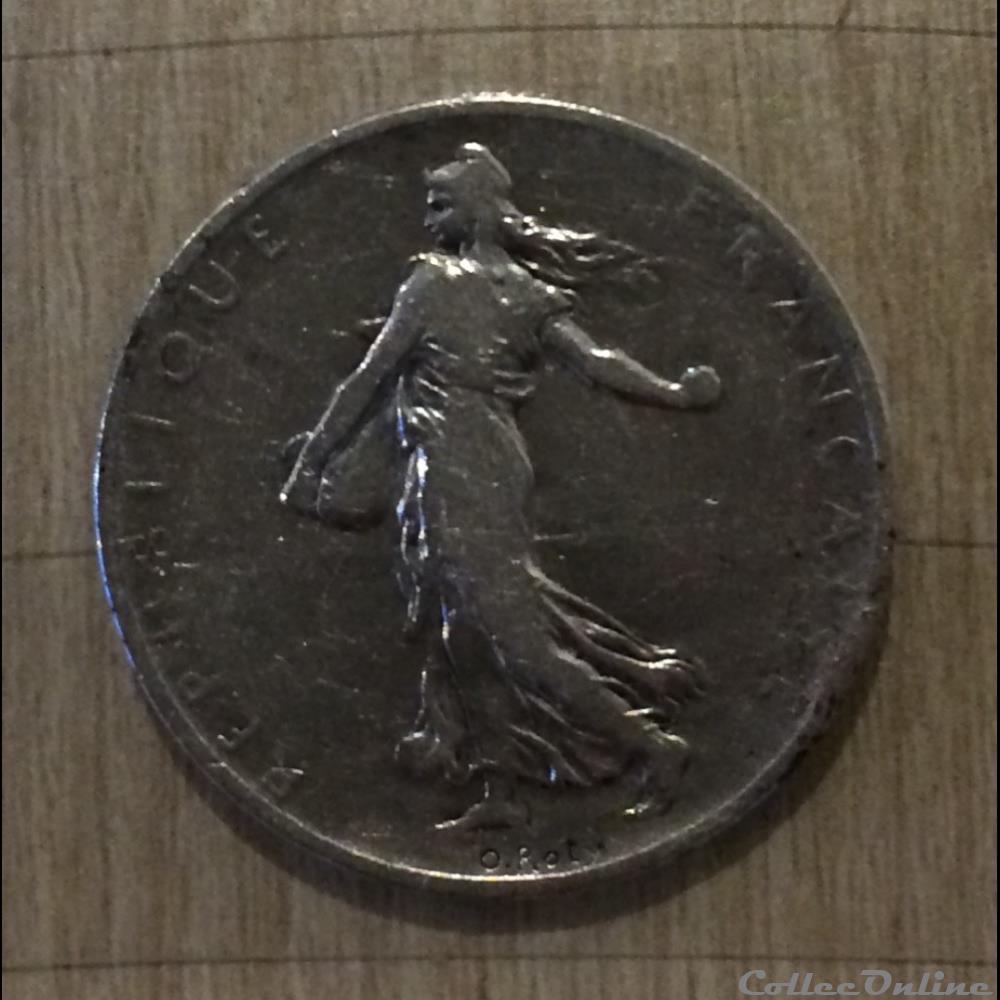 monnaie france moderne 2 francs 1898 semeuse