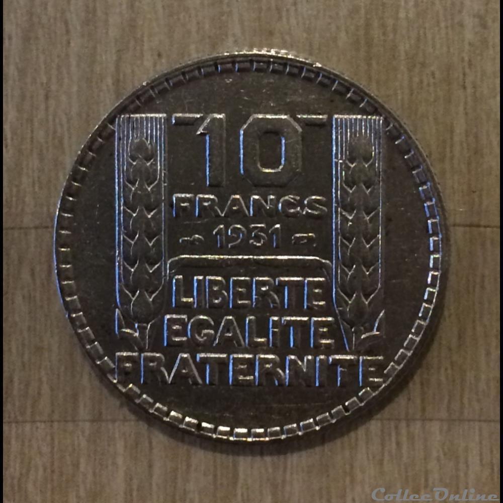 monnaie france moderne 10 francs 1931 turin