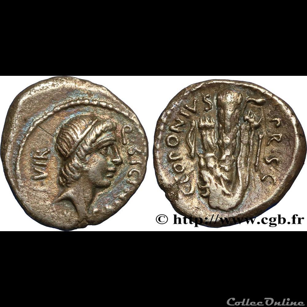 monnaie antique romaine sicinia 49 av j c