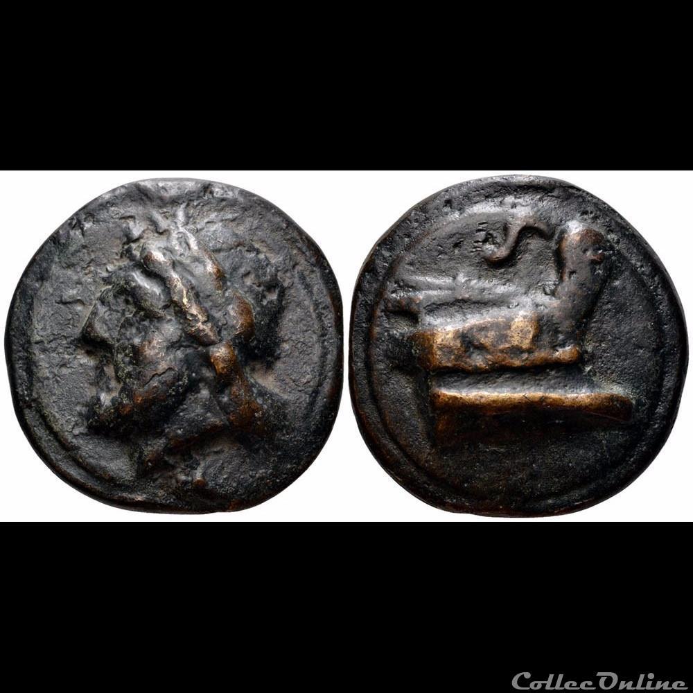 monnaie antique romaine anonyme semis republicain a la proue