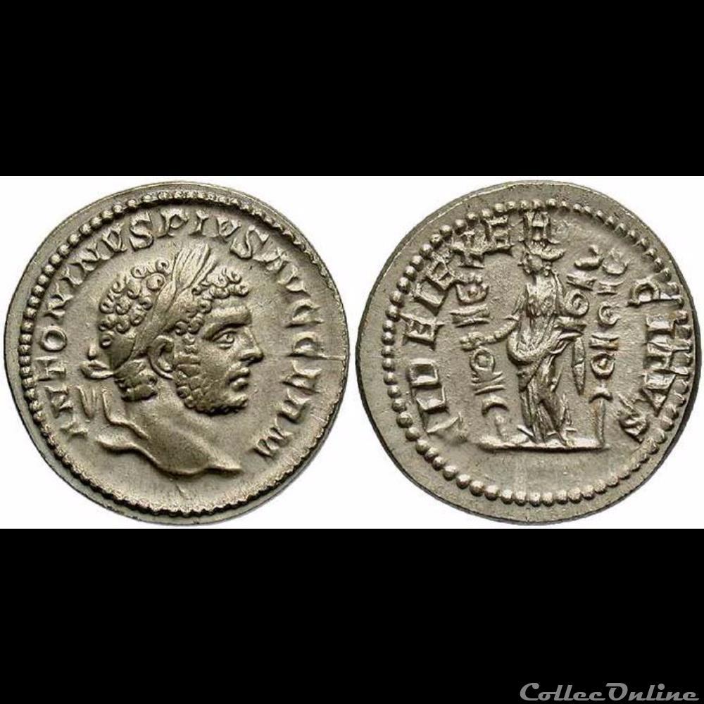 monnaie antique romaine caracalla denier hybride fidei exercitvs