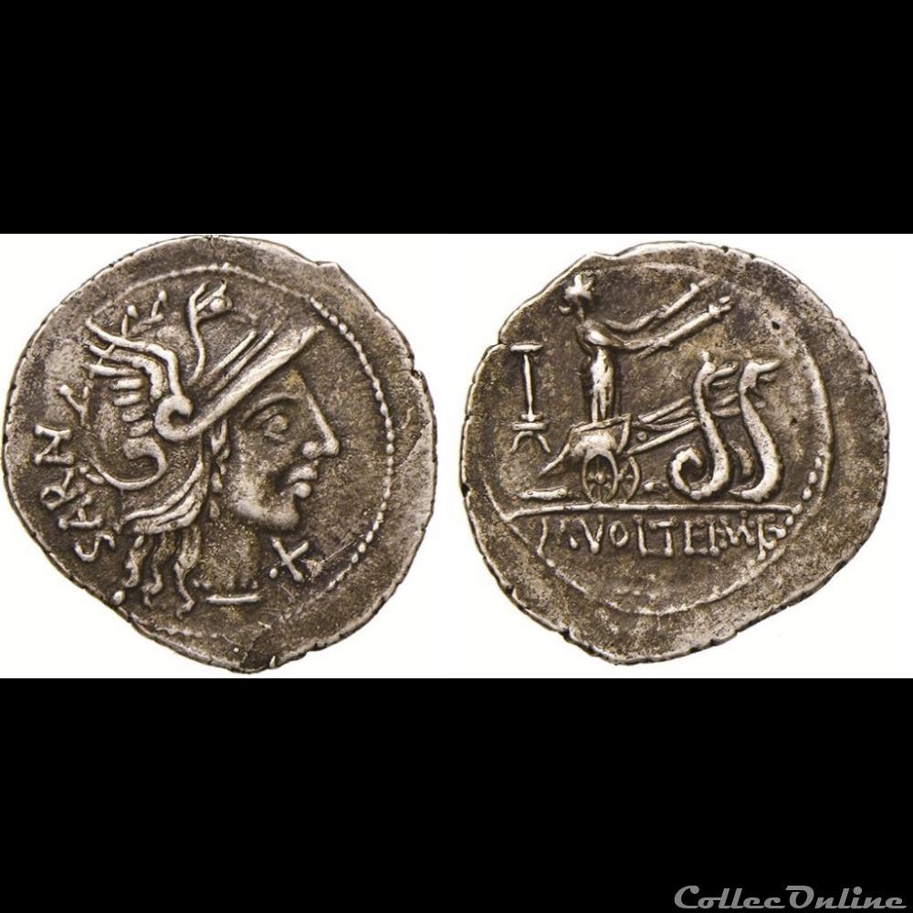 monnaie antique romaine atilia volteia denier hybride ceres