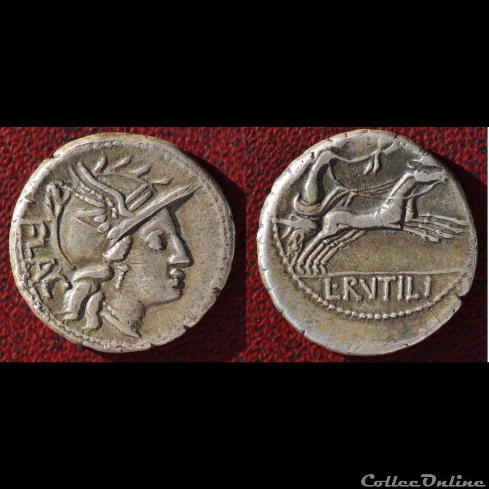 monnaie antique romaine rutilia denier