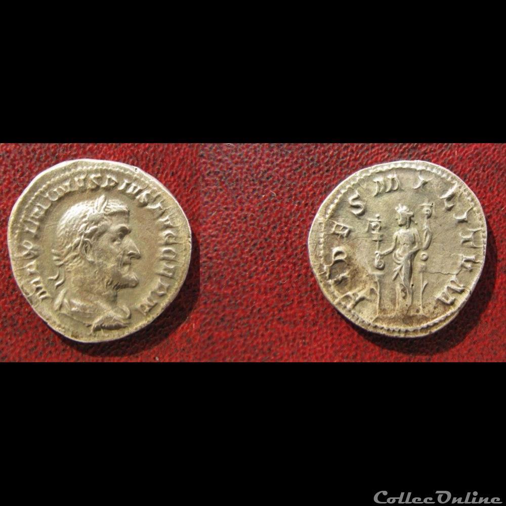 monnaie antique romaine maximin le thrace denier fides militvm