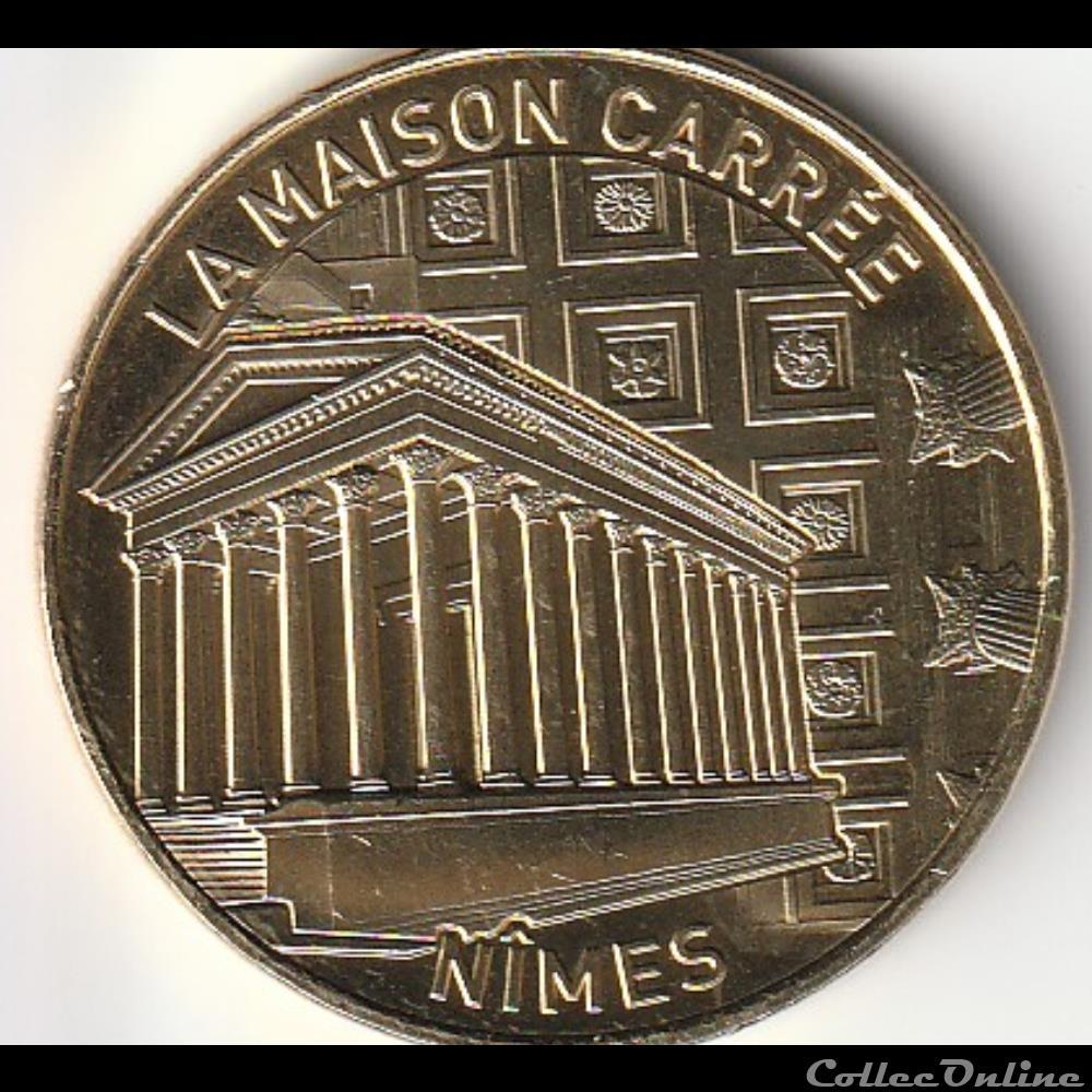 monnaie jeton mereaux france la maison carree nimes