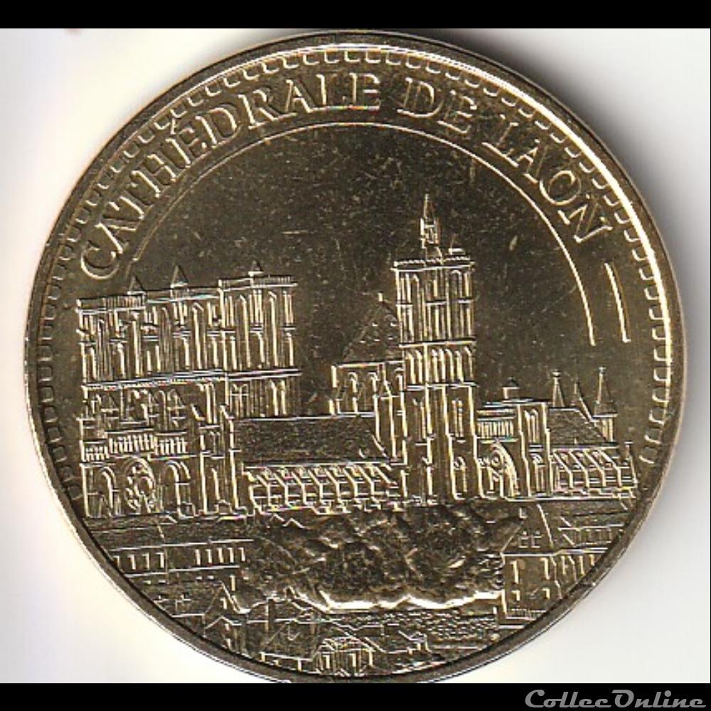monnaie jeton mereaux france cathedrale de laon