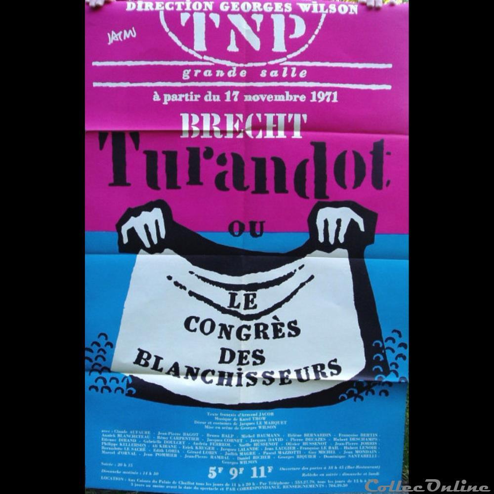 vieux papier affich spectacle tnp turandot ou le congres des blanchisseurs 1971
