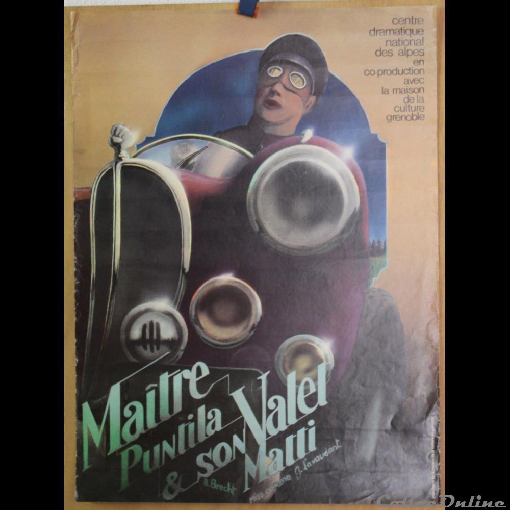 vieux papier affich spectacle maison de la culture de grenoble maitre puntila et son valet matti 1978
