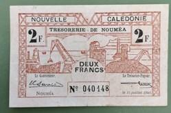 2 francs Nouvelle Calédonie P-53
