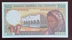 500 francs Comores ND (1984-2005) P-10b....