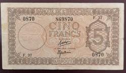 "5 francs ""Palestine"""