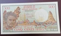 500 francs Djibouti ND 1979 P-36a