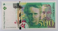 500 francs PM Curie 1994 P-160