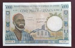5000 francs Etats de afrique de l'ouest ...