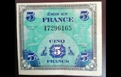 5 francs drapeau