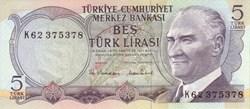 5 Turkish Lira