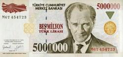 5,000,000 Turkish Lira
