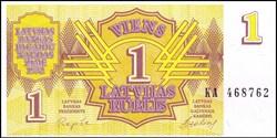 1 Latvian Rublis