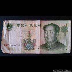 1 Yuan - Chine - 1999