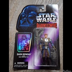 1996 - kENNER - Shadows of the Empire - Dash Rendar with heavy weapons pack