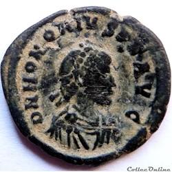 Honorius 392-395/Constantinople/GLORIA ROMANORVM
