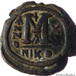 monnaie antique byzantine justin ii et sophie 574 nicomedie