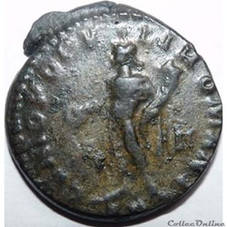 monnaie antique av jc ap romaine constance chlore 297 siscia genio popvli romani