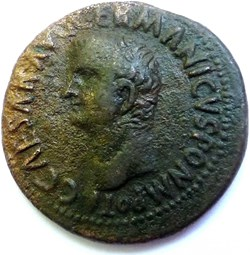 Caligula 37-38/As/Vesta