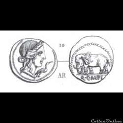 monnaie antique av jc ap romaine gens caecilia 81 denier la piete